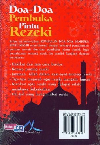 Cover Belakang Buku Doa-Doa Pembuka Pintu Rezeki