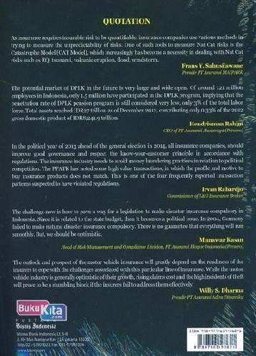 Cover Belakang Buku Indonesi Insurance Watch 2013-2014 Thirteenth Edition
