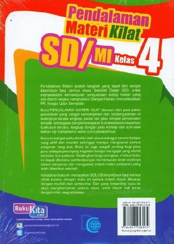 Cover Belakang Buku Pendalaman Materi Kilat SD/MI Kelas 4