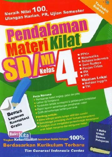 Cover Buku Pendalaman Materi Kilat SD/MI Kelas 4