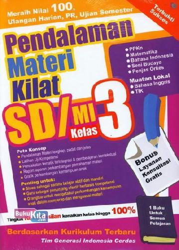 Cover Buku Pendalaman Materi Kilat SD/MI Kelas 3