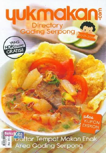 Cover Yukmakan.com Directory Gading Serpong 2013-2014