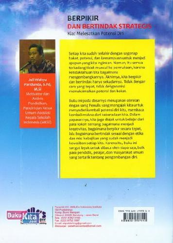 Cover Belakang Buku Berfikir dan Bertindak Strategis