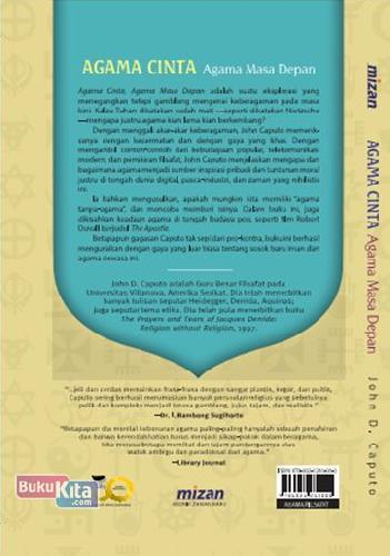 Cover Belakang Buku Agama Cinta. Agama Masa Depan