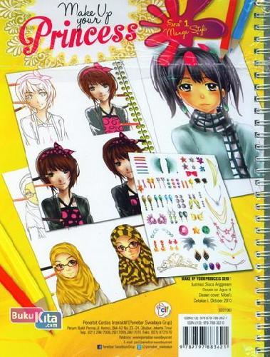 Cover Belakang Buku Make Up Your Princess 1 (Menggambar & Mewarnai Princess Favoritmu)