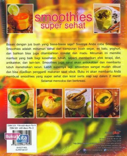 Cover Belakang Buku Smoothies Super Sehat