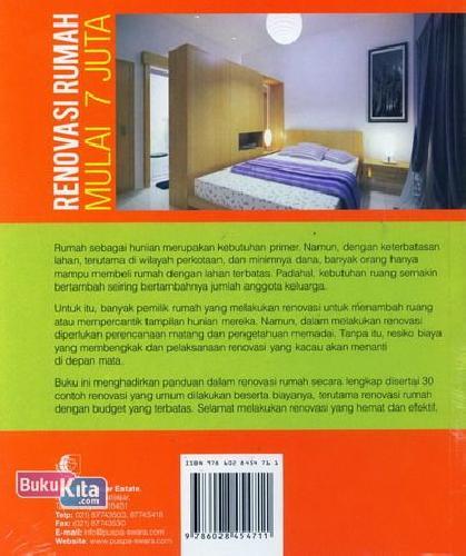Cover Belakang Buku Renovasi Rumah Mulai 7 Juta