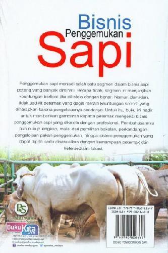 Cover Belakang Buku Bisnis Penggemukan Sapi (Edisi Revisi)