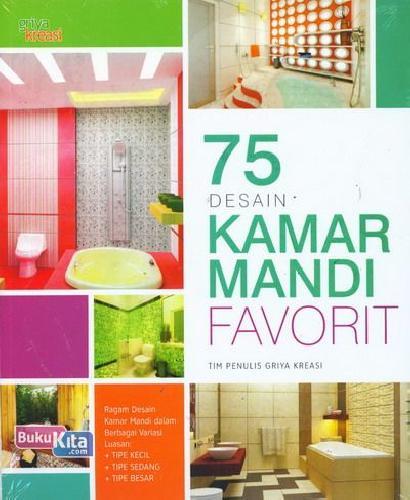 Cover Buku 75 Desain Kamar Mandi Favorit