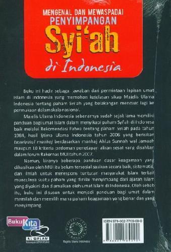 Cover Belakang Buku Mengenal Dan Mewaspadai Penyimpangan Syiah di Indonesia