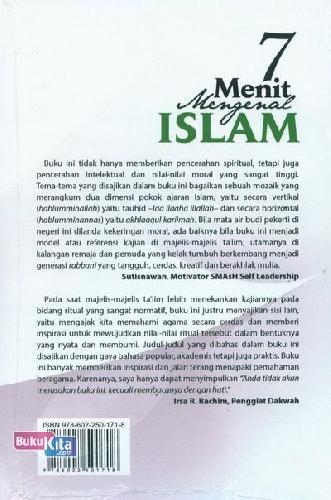 Cover Belakang Buku 7 Menit Mengenal Islam