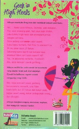 Cover Belakang Buku Geek In High Heels