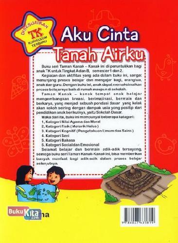 Cover Belakang Buku Aku Cinta Tanah Airku  (Promo Luxima)