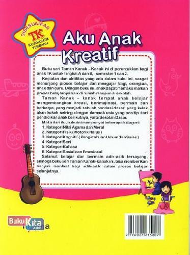 Cover Belakang Buku Aku Anak Kreatif  (Promo Luxima)
