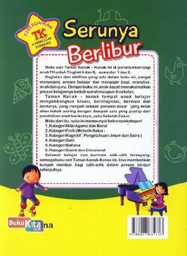 Cover Belakang Buku Serunya Berlibur (untuk TK A Semester 2) (Promo Luxima)