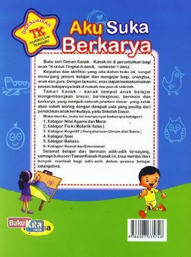 Cover Belakang Buku Aku Suka Berkarya  (Promo Luxima)
