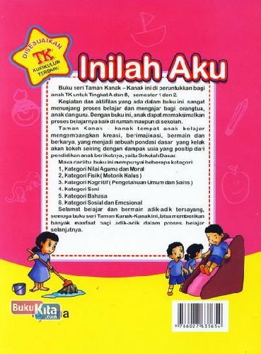 Cover Belakang Buku Inilah Aku (untuk TK A Semester 1) (Promo Luxima)