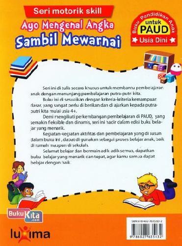 Cover Belakang Buku Ayo Mengenal Angka Sambil Mewarnai (Promo Luxima)