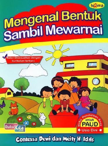 Cover Buku Mengenal Bentuk Sambil Mewarnai (Promo Luxima)