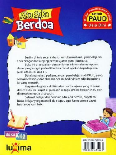 Cover Belakang Buku Aku Suka Berdoa (Promo Luxima)