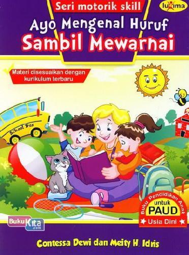 Cover Buku Ayo Mengenal Huruf Sambil Mewarnai (Promo Luxima)