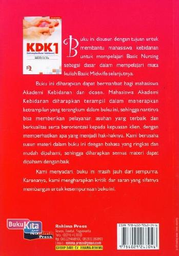 Cover Belakang Buku Ketrampilan Dasar Kebidanan KDK 1