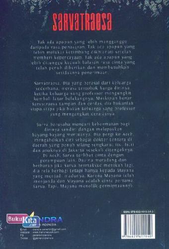 Cover Belakang Buku Sarvatraesa Sang Petualang