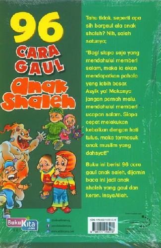 Cover Belakang Buku 96 Cara Gaul Anak Shaleh