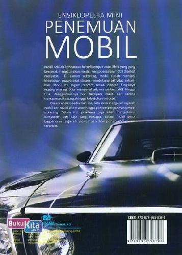Cover Belakang Buku Ensiklopedia Mini : Penemuan Mobil