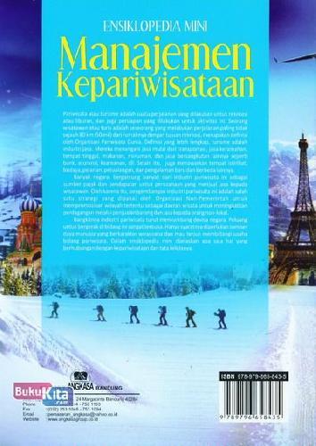 Cover Belakang Buku Ensiklopedia Mini : Manajemen Kepariwisataan