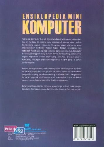 Cover Belakang Buku Ensiklopedia Mini : Komputer