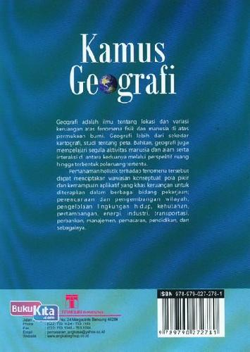 Cover Belakang Buku Kamus Geografi