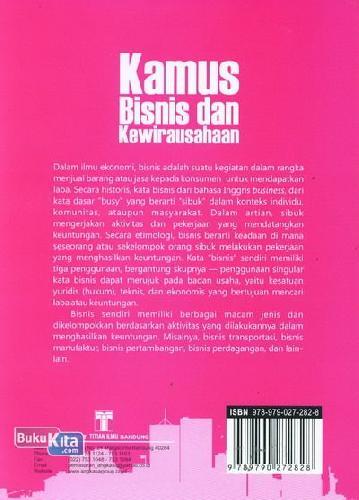 Cover Belakang Buku Kamus Bisnis dan Kewirausahaan (Kamus Bergambar)