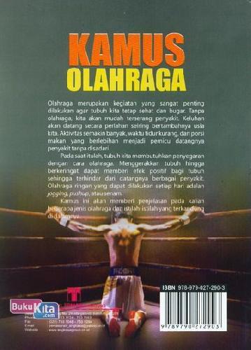Cover Belakang Buku Kamus Olahraga (Kamus Bergambar)