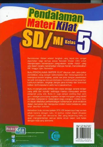 Cover Belakang Buku Pendalaman Materi Kilat SD/MI Kelas 5