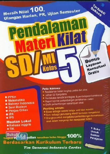Cover Buku Pendalaman Materi Kilat SD/MI Kelas 5