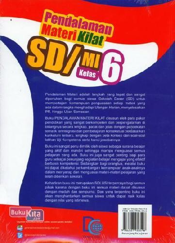 Cover Belakang Buku Pendalaman Materi Kilat SD/MI Kelas 6