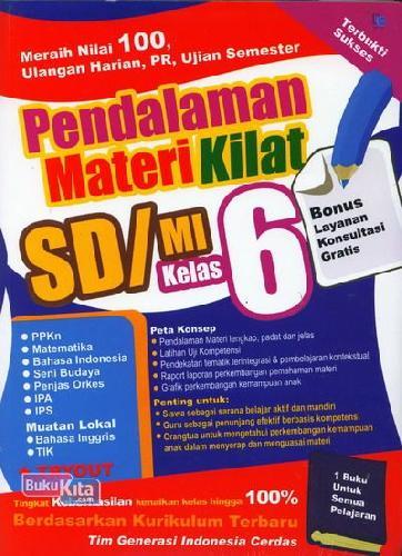 Cover Buku Pendalaman Materi Kilat SD/MI Kelas 6