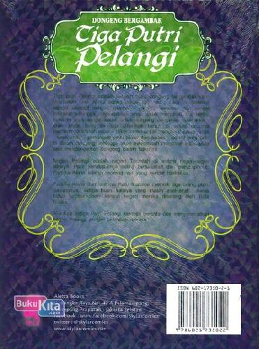 Cover Belakang Buku Tiga Putri Pelangi 2 (Dongeng Bergambar)