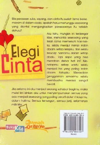 Cover Belakang Buku Elegi Cinta