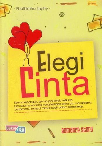 Cover Buku Elegi Cinta