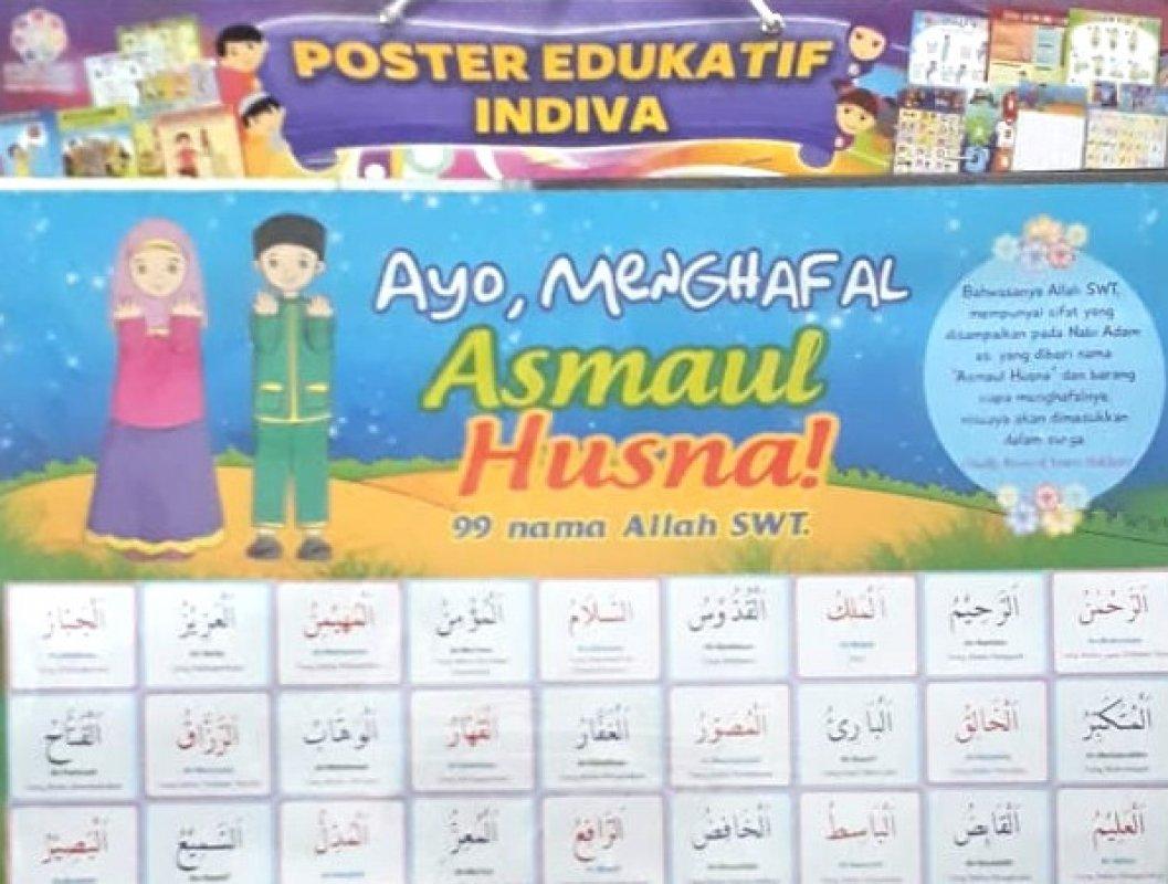 Cover Buku Poster Ayo, Menghafal Asmaul Husna