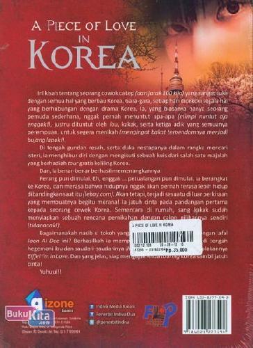 Cover Belakang Buku A Piece of Love in Korea