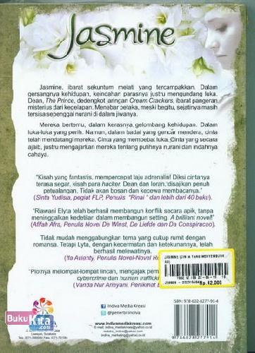 Cover Belakang Buku Jasmine : Cinta yang Menyembuhkan Luka