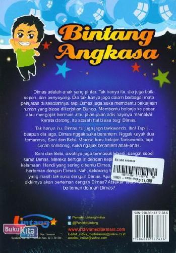 Cover Belakang Buku Bintang Angkasa