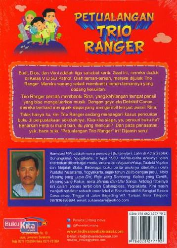 Cover Belakang Buku Petualangan Trio Ranger