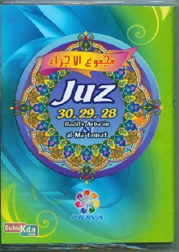 Cover Buku JUZ 30.29. 28 Hadits Arbain & al-Matsurat (warna hijau)