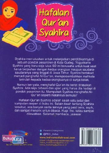 Cover Belakang Buku Hafalan Quran Syahira