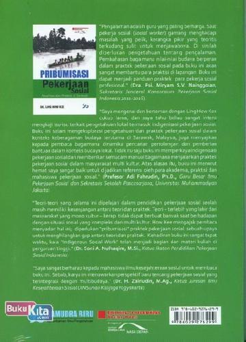 Cover Belakang Buku Pribumisasi Pekerjaan Sosial (Penelitian dan Praktek di sarawak)