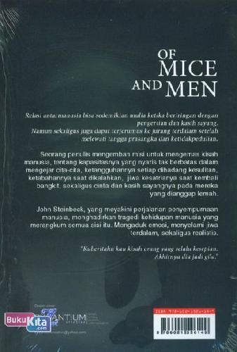 Cover Belakang Buku Of Mice And Men (Cover Baru)